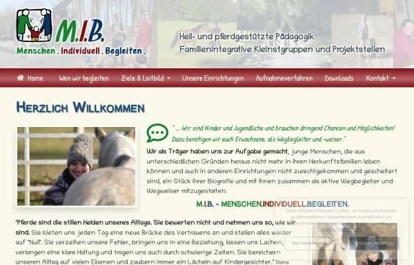 Vorschau von www.menschen-begleiten.de, M.I.B. - Menschen individualpädagogisch begleiten