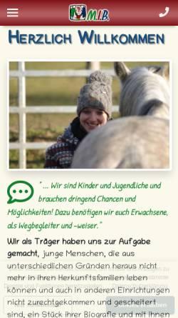 Vorschau der mobilen Webseite www.menschen-begleiten.de, M.I.B. - Menschen individualpädagogisch begleiten