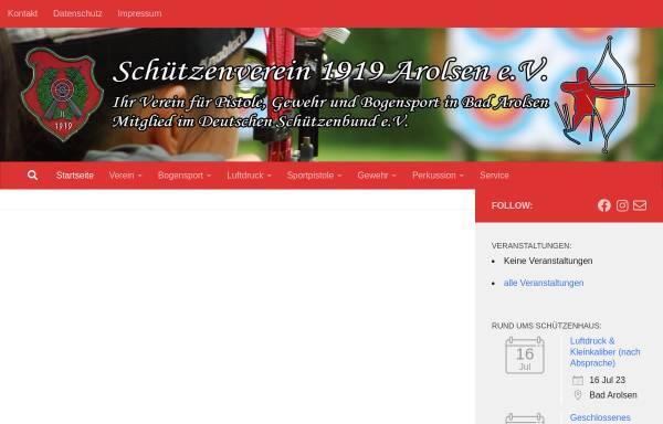 Vorschau von www.sv-arolsen.de, Schützenverein Arolsen 1919 e.V.