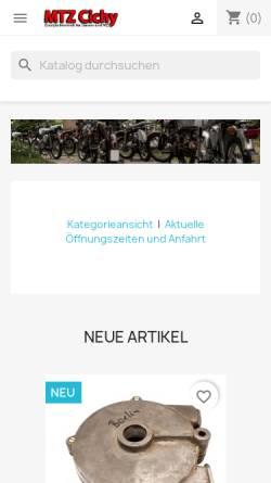 Vorschau der mobilen Webseite www.mtz-cichy.de, MTZ-Cichy, Karl-Heinz-Cichy