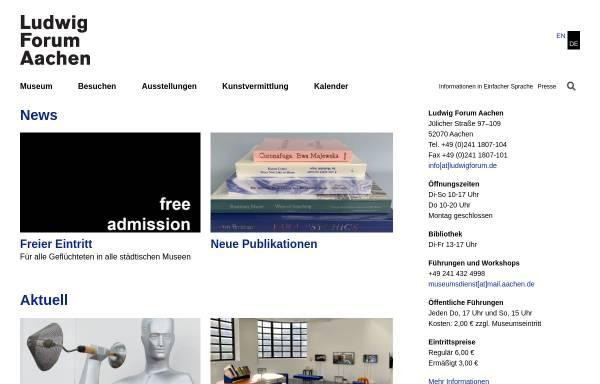 Vorschau von www.ludwigforum.de, Ludwig Forum für Internationale Kunst