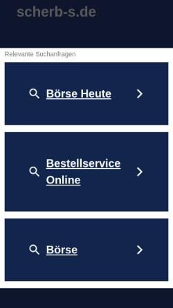 Vorschau der mobilen Webseite www.scherb-s.de, Scherb GmbH BMW-Motorrad Technik