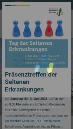 Vorschau der mobilen Webseite www.klinikum-dessau.de, Städtisches Klinikum Dessau