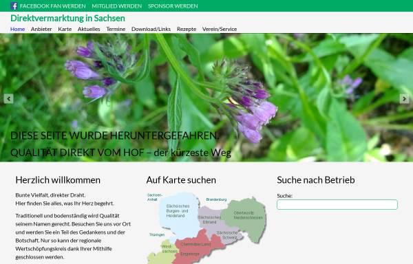Vorschau von www.direktvermarktung-sachsen.de, Direktvermarktung in Sachsen e.V.