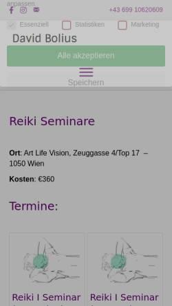 Vorschau der mobilen Webseite reikiseminar.net, David Bolius