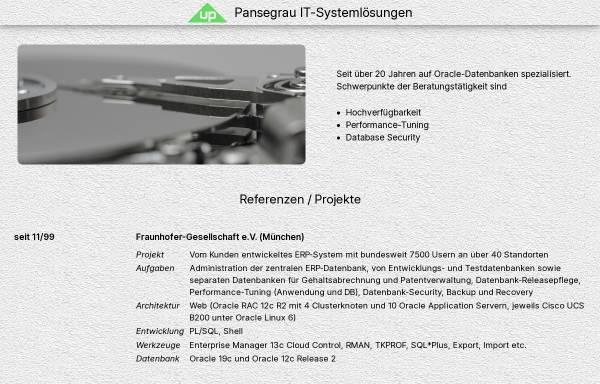 Vorschau von www.pansegrau.info, U. Pansegrau IT-Systemlösungen