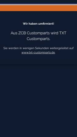 Vorschau der mobilen Webseite www.zcb-products.de, ZCB Products
