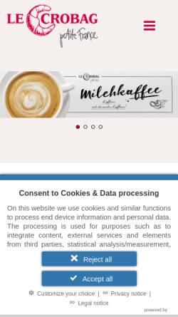 Vorschau der mobilen Webseite www.lecrobag.de, Le Crobag GmbH & Co. KG