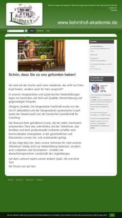 Vorschau der mobilen Webseite www.liehrnhof-akademie.de, Liehrnhof-Akademie für Systemintegrative Therapie (SiT)