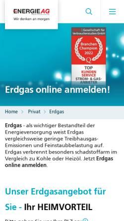 Vorschau der mobilen Webseite www.erdgasooe.at, Erdgas Oberösterreich