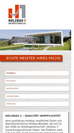 Vorschau der mobilen Webseite www.holzbau1.at, Holzbau 1