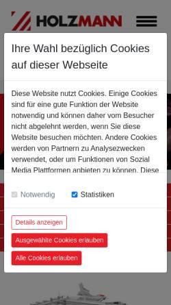 Vorschau der mobilen Webseite www.holzmann-maschinen.at, Holzmann Maschinen