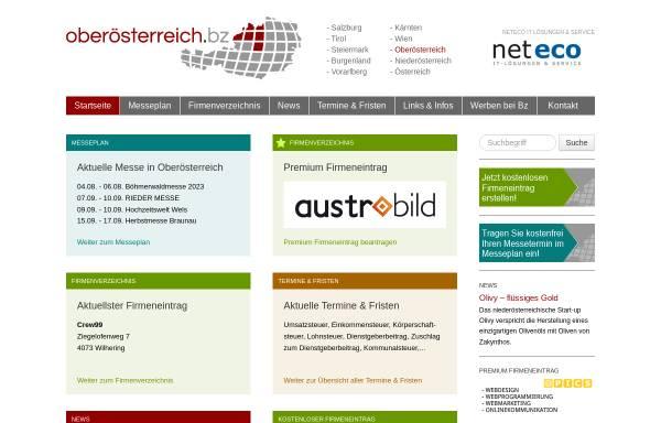 Vorschau von www.oberoesterreich.bz, Oberösterreich.Bz - Shopping und Wirtschaftsplattform für Oberösterreich