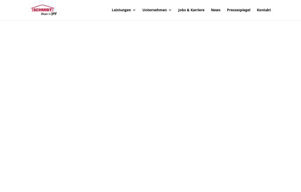 Vorschau von www.schmidt-reinigung.at, Schmidt Gebäudereinigung