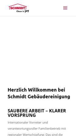 Vorschau der mobilen Webseite www.schmidt-reinigung.at, Schmidt Gebäudereinigung