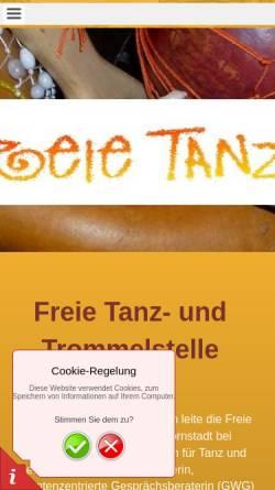 Vorschau der mobilen Webseite www.freie-tanzstelle.de, Freie Tanzstelle mit Silvia Hördt