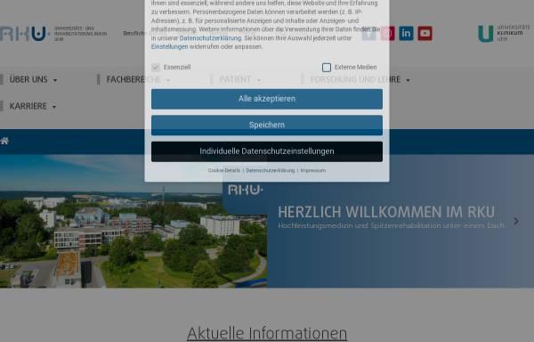 Vorschau von www.rku.de, Rehabilitationskrankenhaus Ulm