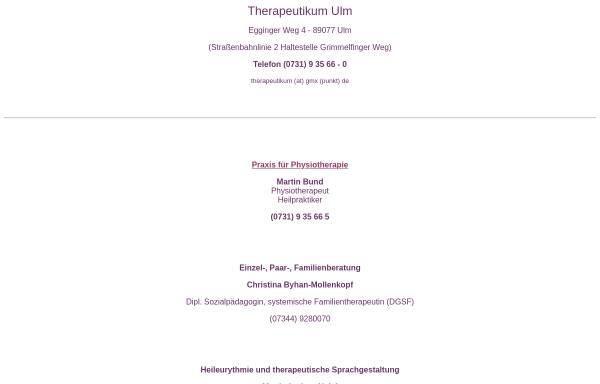 Vorschau von therapeutikum-ulm.de, Therapeutikum