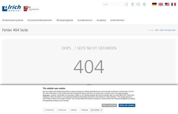 Vorschau von www.ulrichmedical.com, Ulrich GmbH & Co. KG