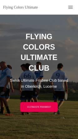 Vorschau der mobilen Webseite www.colors.ultimate.ch, Flying Colors