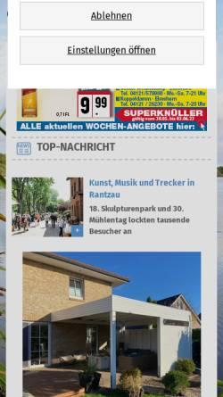 Vorschau der mobilen Webseite www.holsteiner-allgemeine.de, Klaus Merse Verlag GmbH