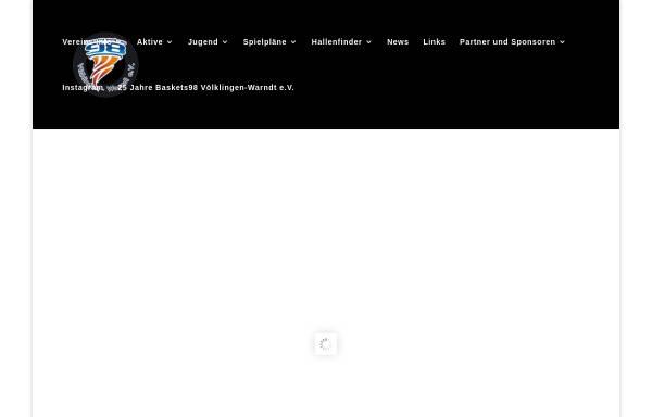 Vorschau von www.baskets-98.de, Baskets 98 Völklingen Warndt e.V.