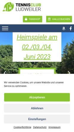 Vorschau der mobilen Webseite www.tcludweiler.de, Tennisclub Ludweiler e.V.