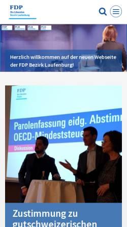 Vorschau der mobilen Webseite www.fdp-bezirk-laufenburg.ch, FDP Bezirk Laufenburg