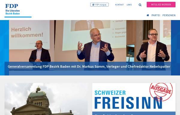 Vorschau von www.fdp-bezirkbaden.ch, FDP Bezirk Baden