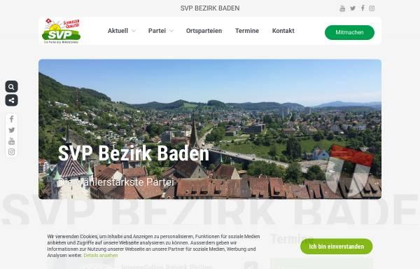 Vorschau von www.svp-bezirkbaden.ch, SVP Bezirk Baden