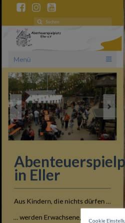 Vorschau der mobilen Webseite www.asp-eller.de, Abenteuerspielplatz Eller e.V.