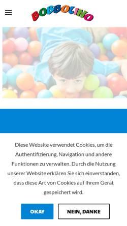 Vorschau der mobilen Webseite www.bobolino-kinderwelt.de, Bobbolino Kinderwelt