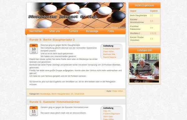 Vorschau von www.digoc.de, Düsseldorfer Internet Go Club