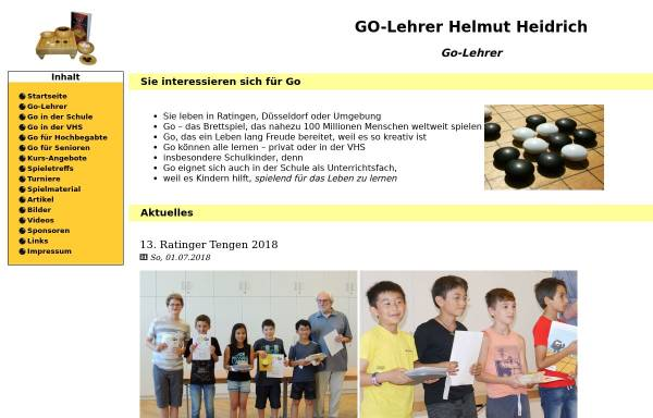 Vorschau von www.go-lehrer.de, Go-Lehrer Helmut Heidrich