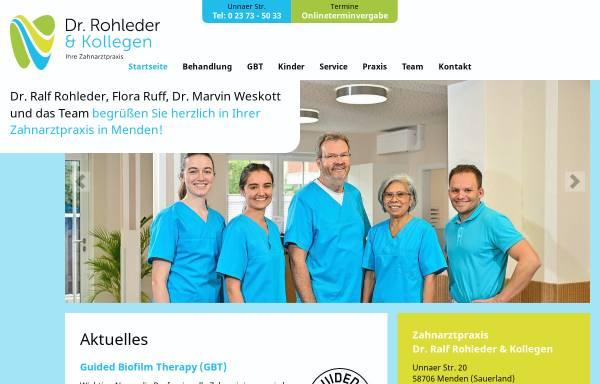 Vorschau von www.zahnarzt-rohleder.de, Dr. Ralf Rohleder und Partner