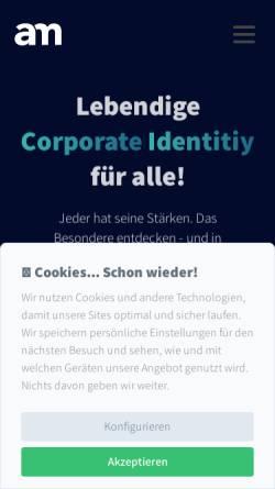 Vorschau der mobilen Webseite www.adam-medien.de, Adam,Text & Audio - Konzepte