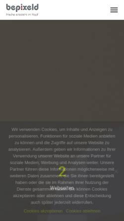 Vorschau der mobilen Webseite www.bepixeld.de, Bepixeld GmbH & Co. KG
