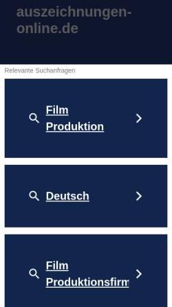 Vorschau der mobilen Webseite www.auszeichnungen-online.de, Auszeichnungen-Online