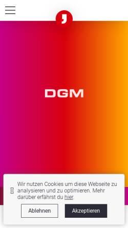 Vorschau der mobilen Webseite www.d-g-m.de, DGM Diekert, Grab & Mungenast Werbeagentur GmbH & Co. KG