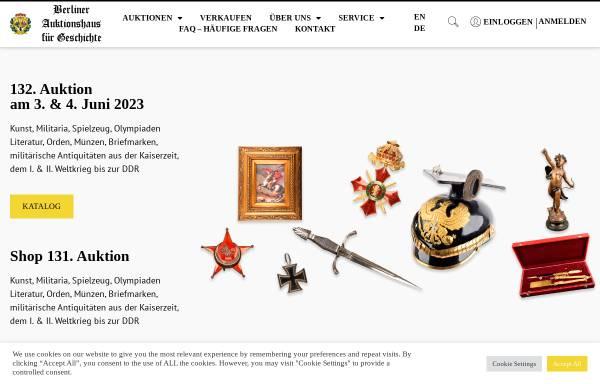 Vorschau von www.berliner-auktionshaus.com, Berliner Auktionshaus