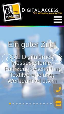 Vorschau der mobilen Webseite www.digital-access.de, Digital Access - Jochen Kuhnle