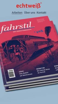 Vorschau der mobilen Webseite www.echtweiss.de, Echtweiß Corporate Design