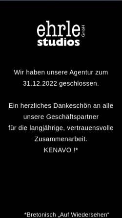 Vorschau der mobilen Webseite www.ehrle-studios.de, Ehrle studios GmbH