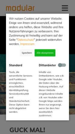 Vorschau der mobilen Webseite modular.de, Modular - Agentur für integrierte Kommunikation oHG