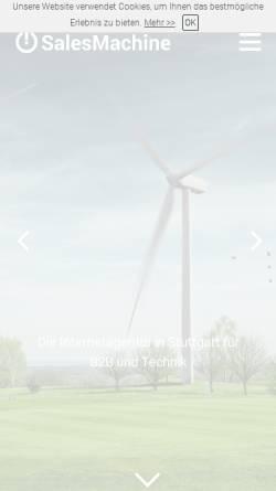 Vorschau der mobilen Webseite www.salesmachine.biz, SalesMachine GmbH