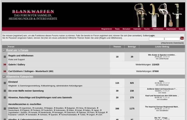 Vorschau von deutsches-blankwaffenforum.de, Deutsches Blankwaffenforum