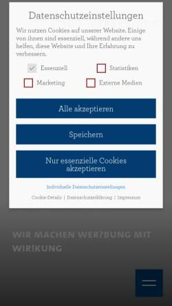 Vorschau der mobilen Webseite www.sdv-werbestudio.de, SDV Werbestudio