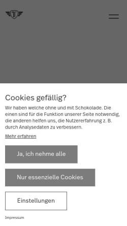 Vorschau der mobilen Webseite www.agentur-tandem.de, Tandem Kreativ - /Media-Service für Werbung GmbH