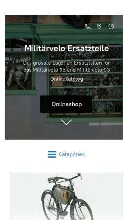 Vorschau der mobilen Webseite www.militaerveloshop.ch, Militärfahrräder der Schweizer Armee