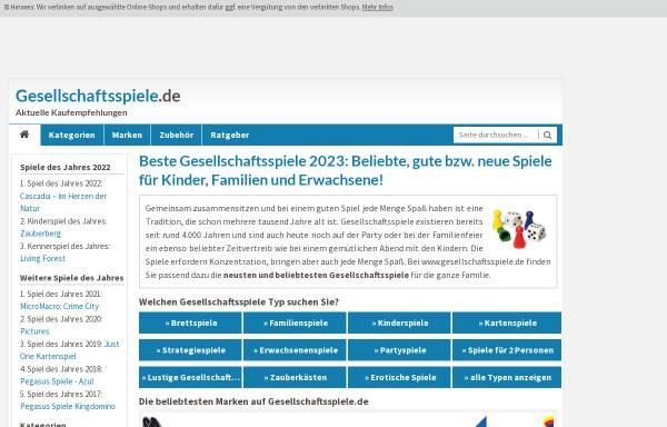 Vorschau von www.gesellschaftsspiele.de, Weblog über Gesellschaftsspiele: Kategorie